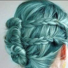 Braidy bun? Amazing.    Blue Hair? I'll get back to you on that one.