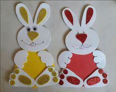 Easter bunny craft idea for kids crafts and worksheets for preschool toddler and kindergarten Easter Crafts For Toddlers, Easter Crafts For Kids, Toddler Crafts, Rabbit Crafts, Bunny Crafts, Craft Activities, Preschool Crafts, Diwali Card Making, Foam Crafts