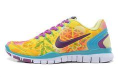 Nike Free TR Fit 2 Womens Lemon Yellow Jade Purple Red UK Order