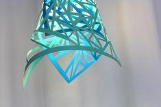 papier bastelideen für DIY Lampe