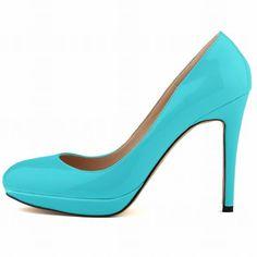 Pure Color Elegant High Platform Heels Shoes