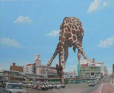 Imaginative Illustrations of Giant Animals Invading Cities by Shuichi Nakano