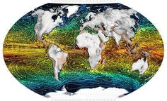 World Maps - Ocean Currents Ocean Current, Printable Maps, World, Thesis, Printable Cards, The World