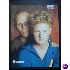 Erasure pin up poster group close up Vince behind Andy (Smash Hits Magazine) on eBid United Kingdom