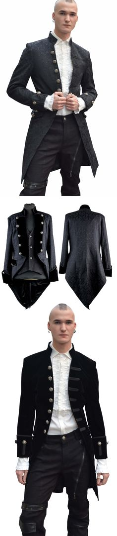 Shop gothic men's coats for fall at RebelsMarket!