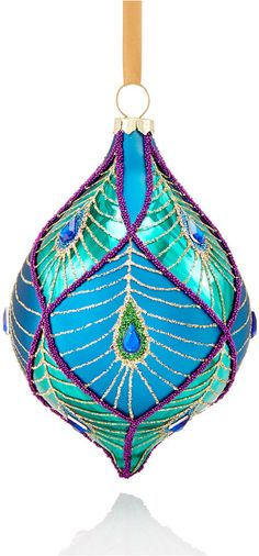 Holiday Lane Peacock Drop Ornament, Only at Macy's