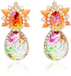 Love this: Galaxy Sequin Earrings in Orange @Lyst