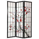 "Found it at Wayfair - 72"" x 42"" Cherry Blossom Decorative 3 Panel Room Divider"
