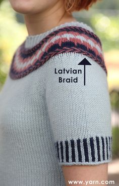 How to Knit a Latvian Braid -  a good video tutorial...