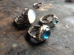Custom Made Hand Forged Sterling Silver Rings by Heather Hoffman Handmade Jewelry