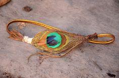 Peacock Feather headband   Etsy