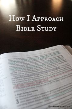 Put the Word first in your Bible study time!