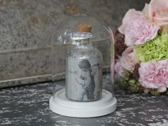 Skleněný poklop Antique white | Bella Rose