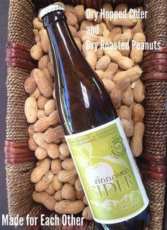 Taking a break from wine? Try enjoying a Dry Hopped Cider with Dry Roasted Peanuts.