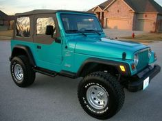Jeep Wrangler. This color is awesome!