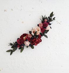 Burgundy Flowers, Blush Flowers, Flowers In Hair, Pink Boutonniere, Bridesmaid Corsage, Tea Length Wedding Dress, Seasonal Flowers, Bridal Hair And Makeup, Wedding Hair Pieces