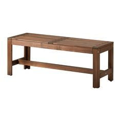 "ÄPPLARÖ Bench, brown (IKEA) [$55-] (solid acacia wood, stain, acrylic glazing paint; width: 44 7/8"" [44.875""], depth: 16 1/8"" [16.125""], height: 17 3/8"" [17.375""]) [This product requires assembly.]"