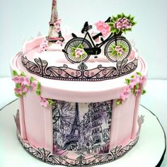 In this post, we are featuring to you the 30 Extremely Awesome Cakes By Brilliant Cake Decorators on earth. These cakes went to our email. Paris Birthday Cakes, Paris Themed Cakes, Paris Cakes, Cute Birthday Cakes, Birthday Cakes For Women, Pretty Cakes, Beautiful Cakes, Amazing Cakes, Fondant Cakes
