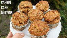 CARROT CAKE MUFFINS | Oil Free, Low Fat, Easy!!