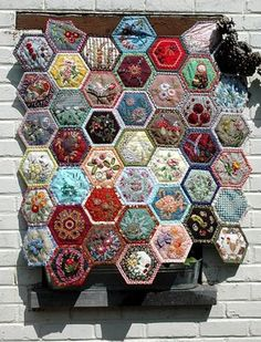 This is like my padded hexies - but with amazing embroidery