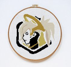 Overwatch Mercy Spray Counted Cross Stitch Pattern Instant