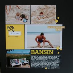 Layout by Susanne Vowinkel | janalenas Blog: Bansin Layouts, Baseball Cards, Blog, Blogging