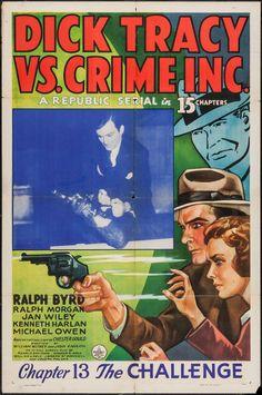 Dick Tracy returns Ralph Byrd vintage movie poster #2