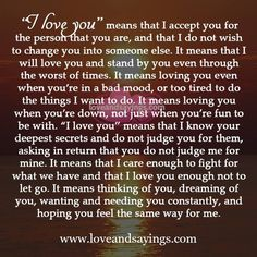 I love you Romantic Quotes For Her, Love Quotes For Her, Love Yourself Quotes, Quotes For Him, I Needed You Quotes, Needing You Quotes, Promise Quotes, Soulmate Love Quotes, Good Relationship Quotes