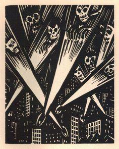 Frans Masereel, Notre Temps, 1952 (Belgique)  Gravure sur bois, Belvès: Pierre Vorms éditeur (France)  (via A Journey Round My Skull)