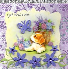 3-D GET WELL SOON Free F/H #936