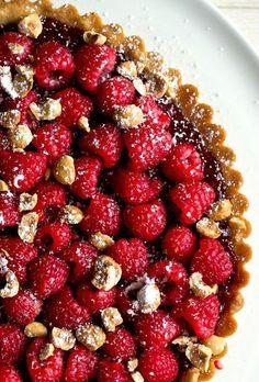 Raspberry Hazelnut Tart
