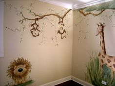 Little Boy Room Ideas | room murals jungle nursery mural painted for little boy s baby nursery ...