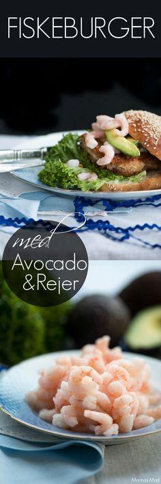 Fiskeburger med sprødstegt torsk, rejer og avocado. Virkelig dejlig og klassisk fiskeburger der kan laves på kun 15 minutter. Nem og dejlig aftensmad med fisk. Opskrift fra Marinas Mad.