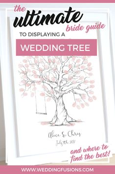 How to display your wedding tree!