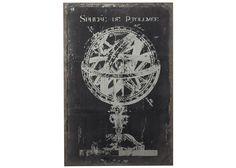"Chalk Sphere (canvas & wood) $234  23""x8"""