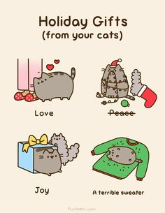 Pusheen, christmas shared by Kociara on We Heart It Chat Pusheen, Pusheen Love, Pusheen Christmas, Christmas Comics, Merry Christmas, Christmas Kitty, Christmas Humor, Crazy Cat Lady, Crazy Cats