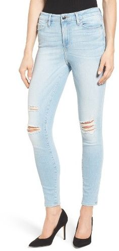 Women's Good American Good Legs Ripped Skinny Jeans