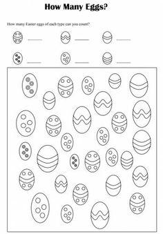 Easter Math Worksheets For Kids #3