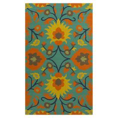 Anchor your dining set or patio seating group in chic style with this lovely hand-knotted indoor/outdoor rug, showcasing an oversized floral-inspired motif. ...