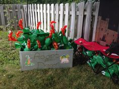 Adopt a Dragon for a Knight and Princess party.