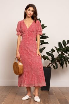 e4ff64fd26 LUCY PARIS - Cynthia Button Dress - Red #mididress #maxidress #spring  #wedding