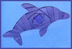 Iris Folding @ CircleOfCrafters.com: Make an Iris Folded Dolphin