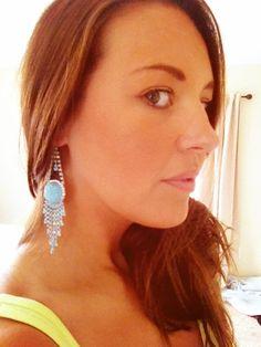Ice Princess Neon Earrings by SophiaDarlingVintage on Etsy, $42.00
