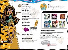 monster high characters profiles - Google Search