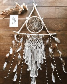 gypsea collection powered by BASE Big Dream Catchers, Dream Catcher Boho, Bead Crafts, Diy And Crafts, Mobiles, Boho Curtains, Native American Crafts, Macrame Design, Do It Yourself Projects