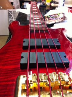 Red Aurora Strings make the perfect finish www.fretfunk.co.uk