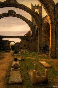 Arches, Cambados, Spain.  Go to www.YourTravelVideos.com or just click on photo for home videos and much more on sites like this.