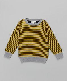 Mustard Stripe Bulletin Sweater - Infant, Toddler & Boys #zulily #zulilyfinds