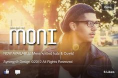 Cowls and hats for men! Visit me at www.monidesignsinc.com