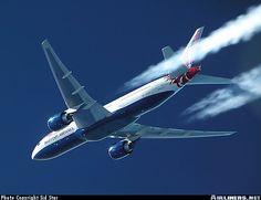 British Airways Boeing 777-236/ER G-VIIR at FL380 over the mid-Atlantic, November 2002. (Photo: Sid Star)